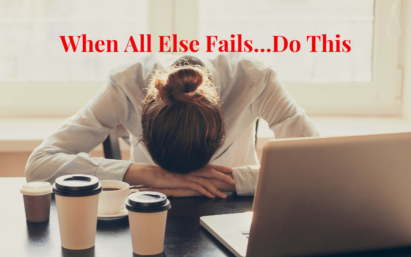 How to convert failure to success
